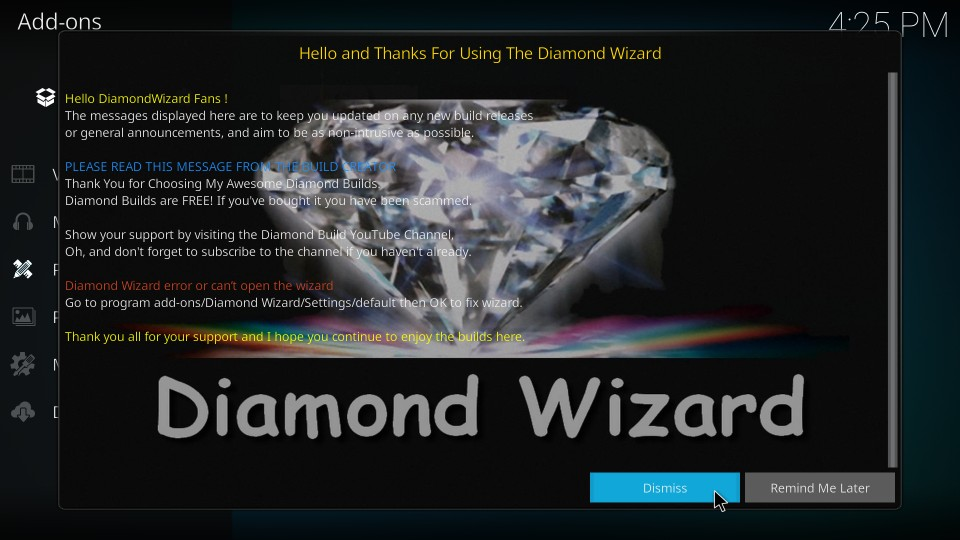 how to get diamond dust kodi build