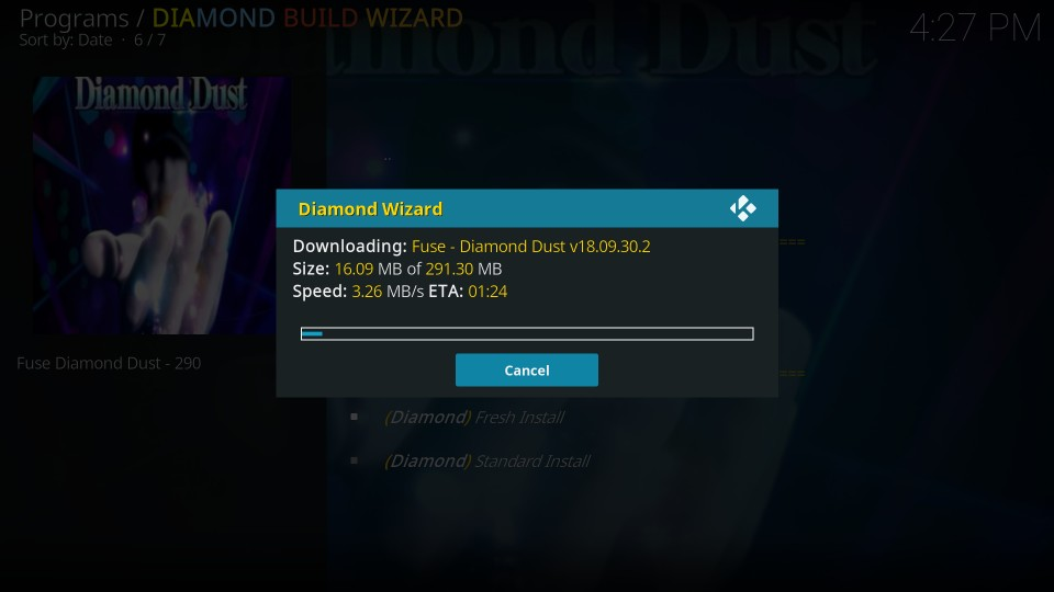 download diamond dust build on kodi