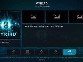 how to install myriad addon on kodi