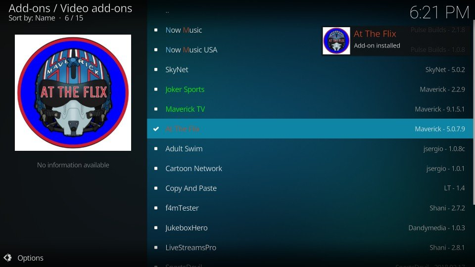how to use at the flix kodi addon