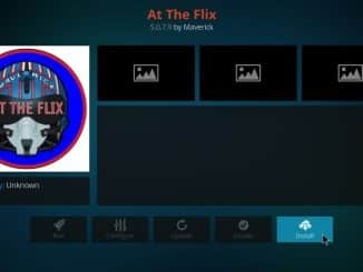 how to install at the flix addon on kodi