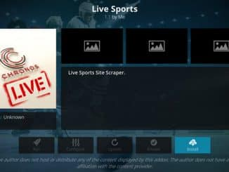 Chronos Live Sports Addon Guide