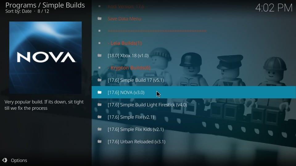 install nova build