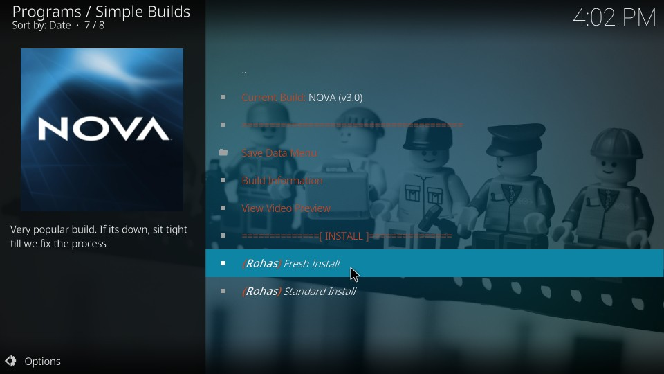 nova build installation steps