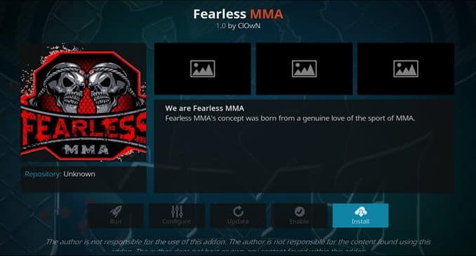 Fearless MMA Addon Guide - Kodi Reviews