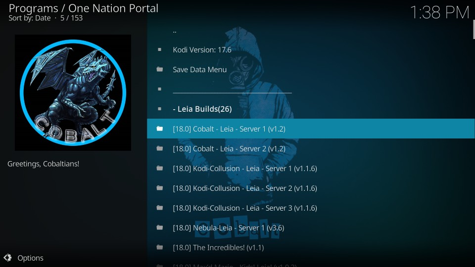 install one nation portal builds on kodi