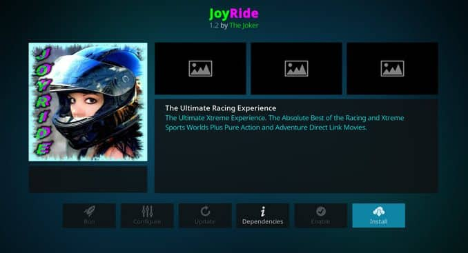 JoyRide Addon Guide - Kodi Reviews