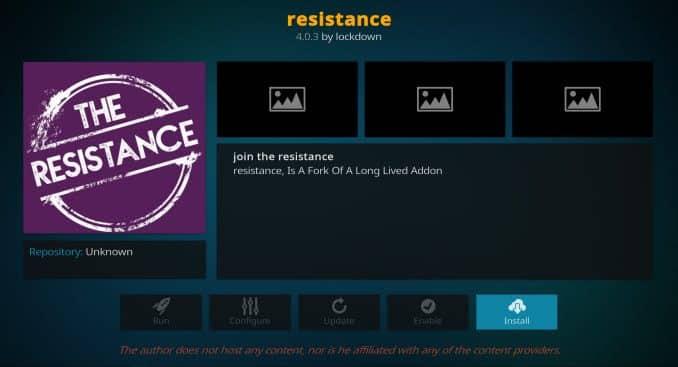 Resistance Addon Guide - Kodi Reviews