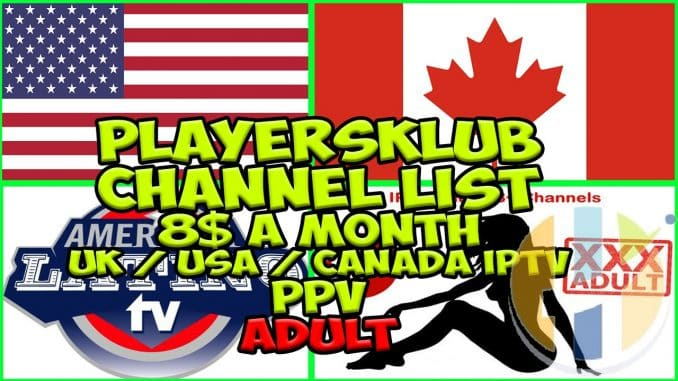 Playersklub IPTV channel list 05/11/2018 - Android, APK