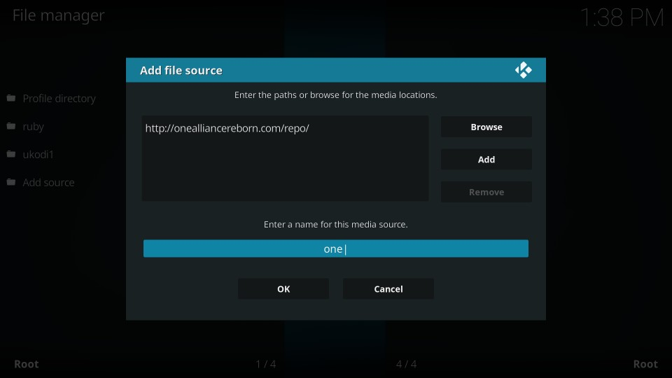 download One Alliance Reborn build on kodi