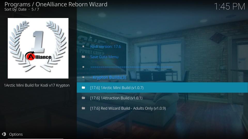 one alliance reborn kodi builds