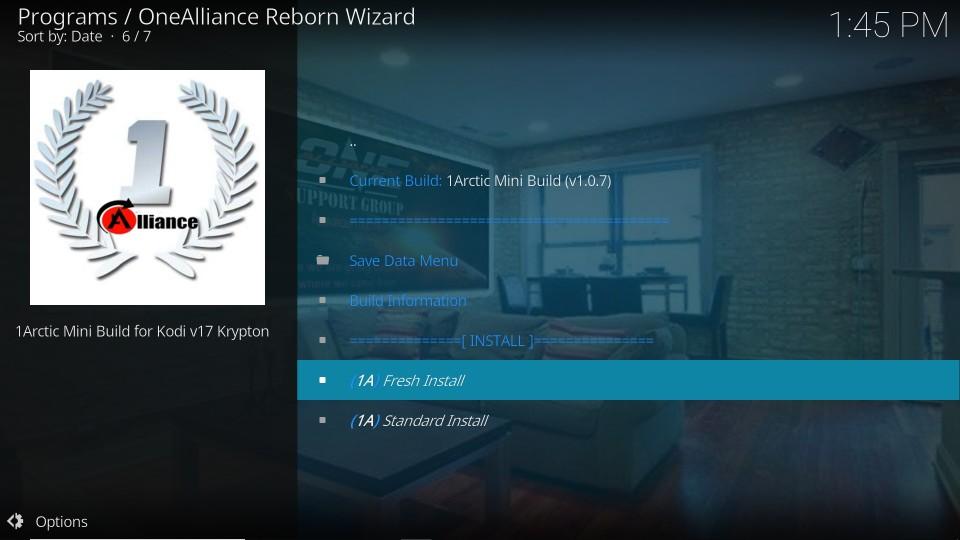 fresh install one alliance reborn builds