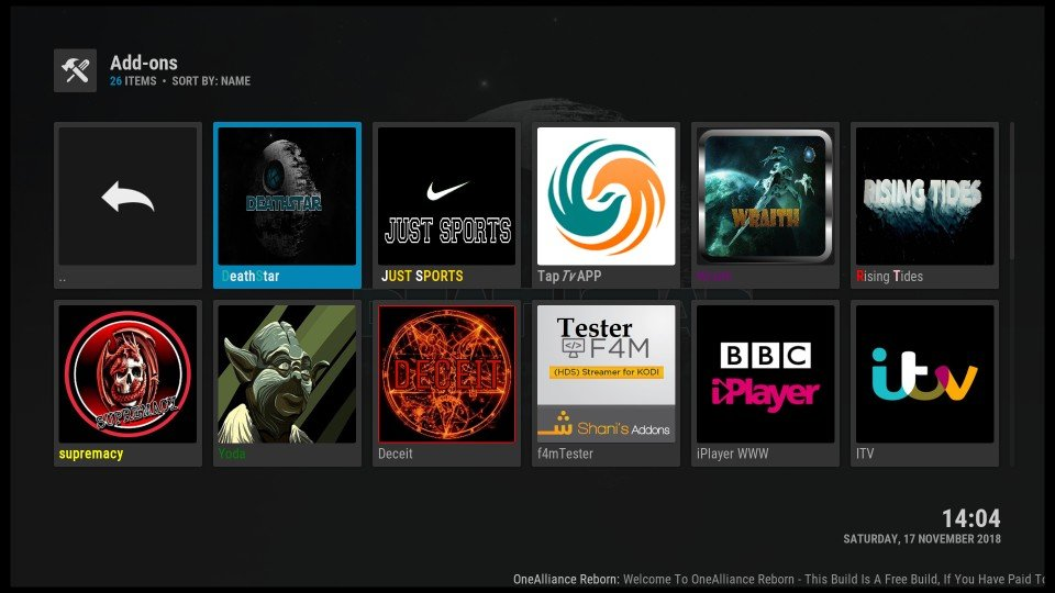 kodi how to put addons on home screen