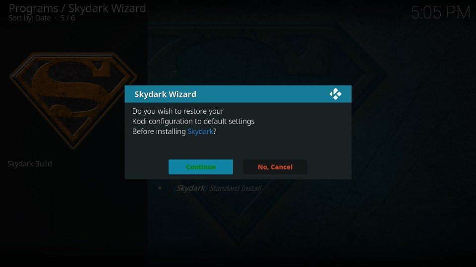 install SkyDark build on kodi