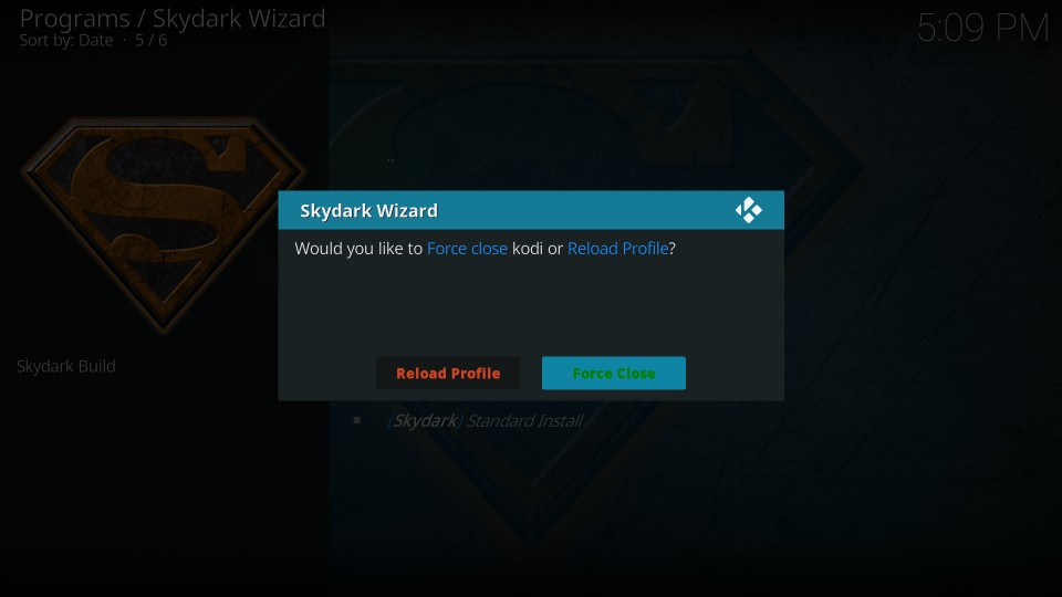how to install skydark build on kodi