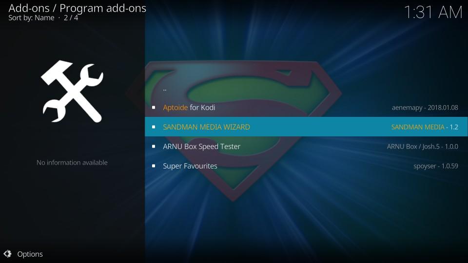 how to download sandman kodi builds
