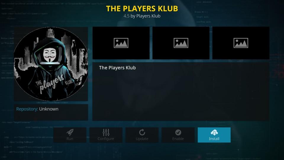 install players klub kodi addon