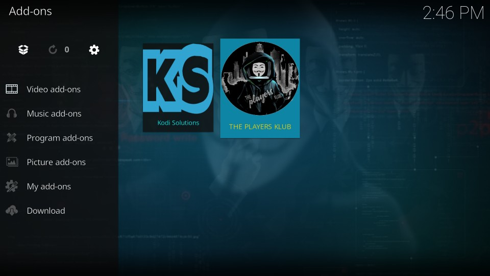 how to use players klub kodi addon