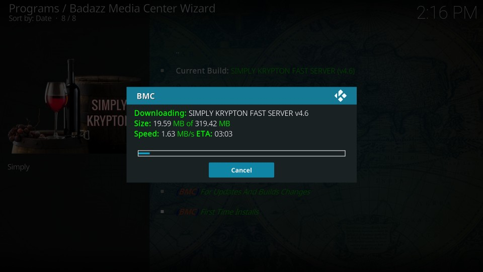 download bmc build on kodi