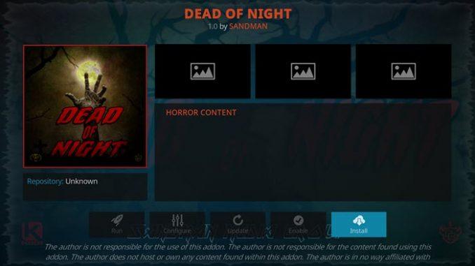 Dead of Night Addon Guide