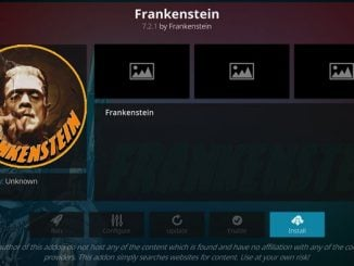 Frankenstein Addon Guide - Kodi Reviews