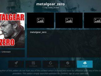 MetalGear Zero Addon Guide - Kodi Reviews