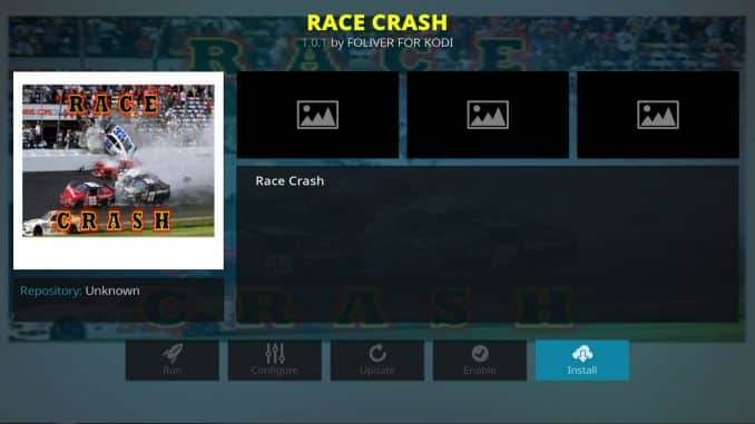 Race Crash Addon Guide - Kodi Reviews