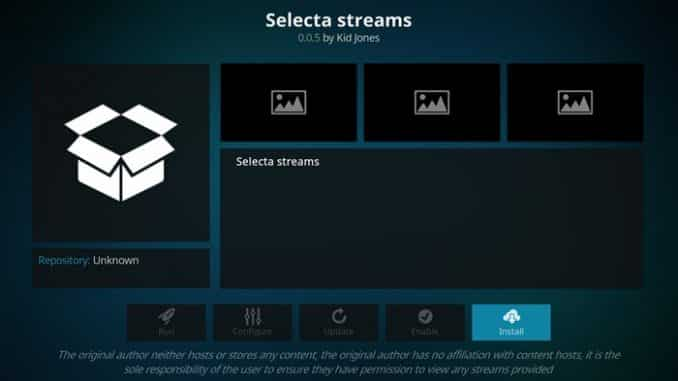 Selecta Streams Addon Guide - Kodi Reviews