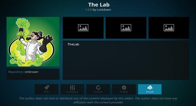 The Lab Addon Guide - Kodi Reviews