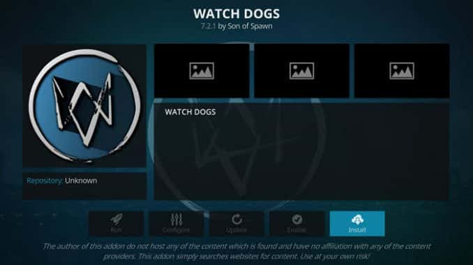 Watch Dogs Addon Guide - Kodi Reviews