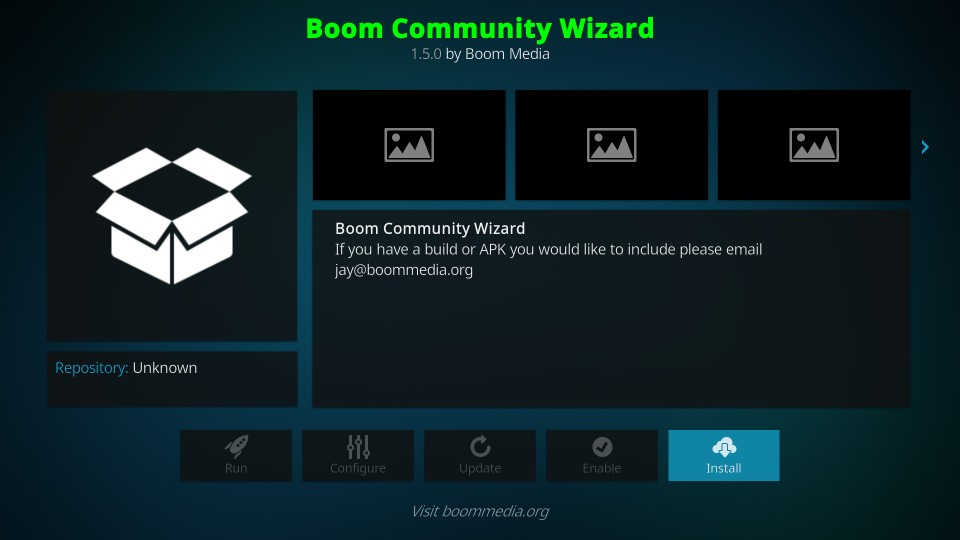 how to install boom community wizard