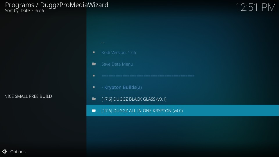 install duggz kodi build