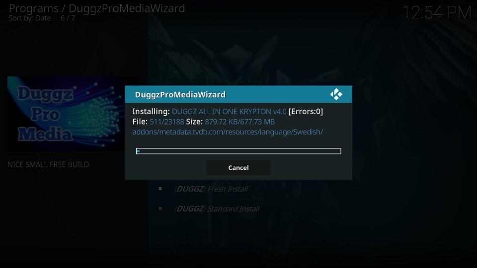 installing duggz build