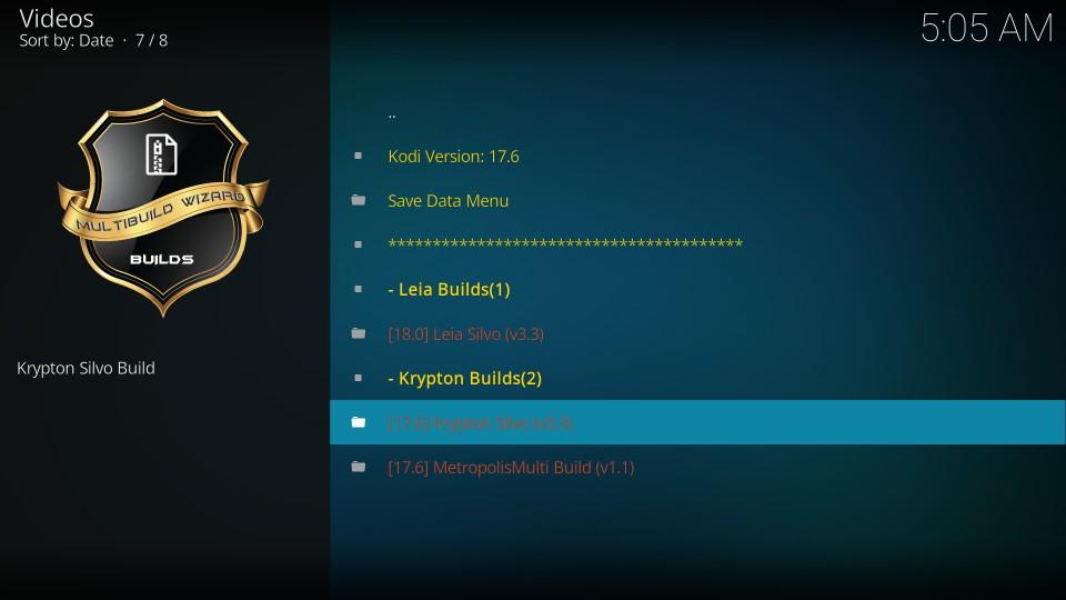 krypton silvo multibuild on kodi
