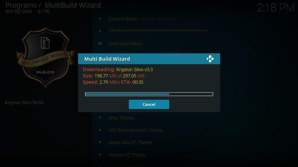 how to install silvo kodi build