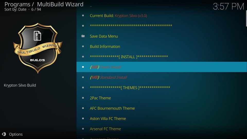 kodi build silvo