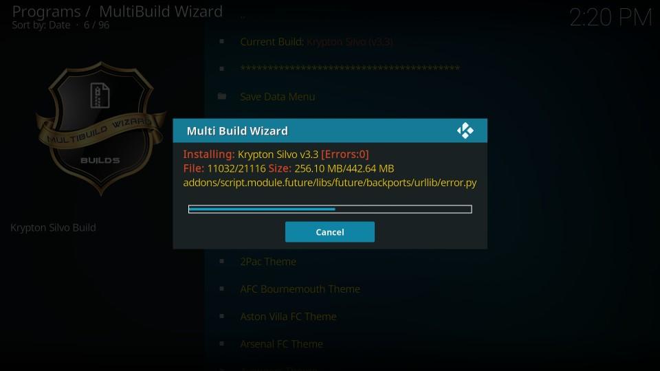 multibuild silvo build on kodi