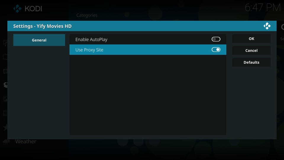 how to use yify movies kodi addon