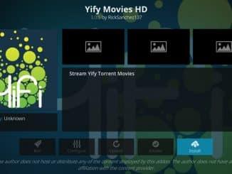 how to install yify movies hd addon on kodi