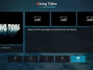 how to install rising tides addon on kodi