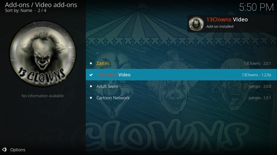 13clowns video kodi