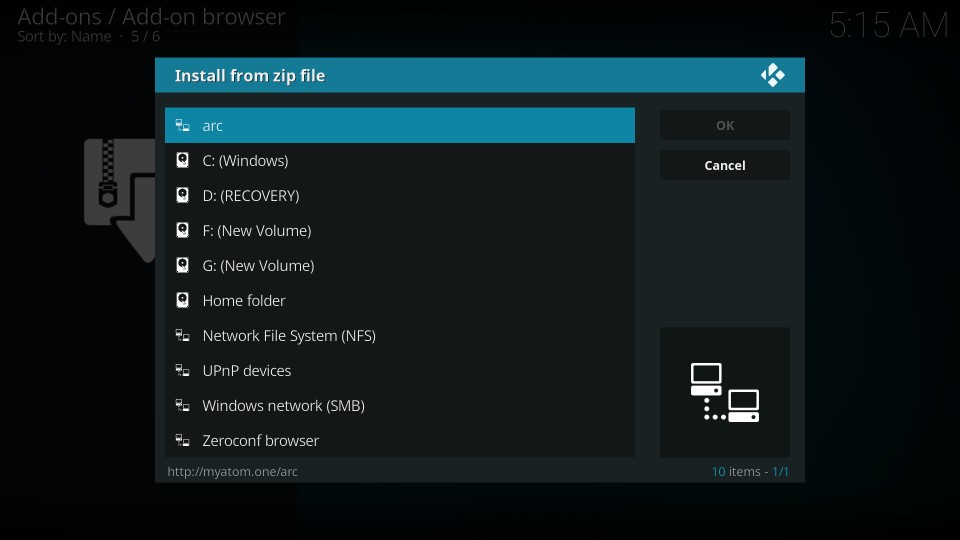 how to install the arc kodi builds