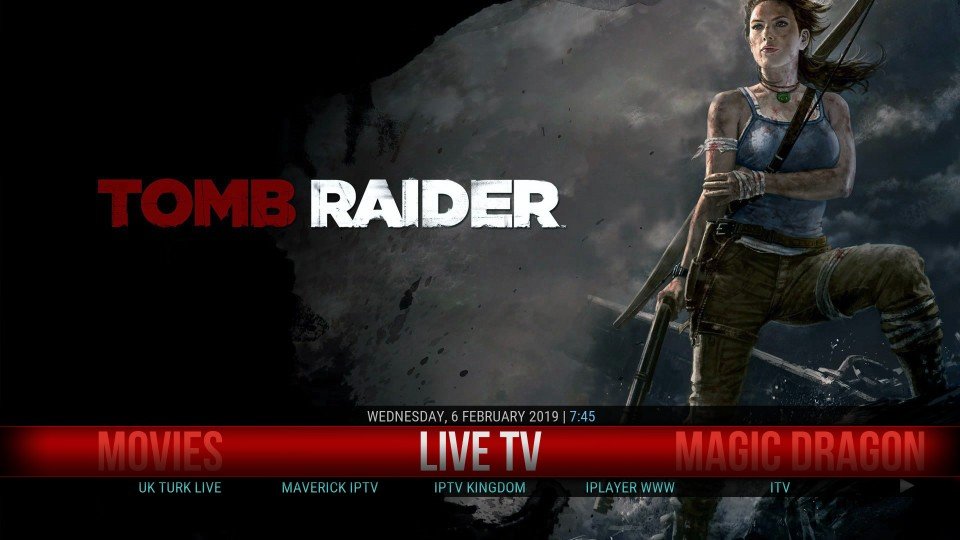 tomb raider kodi build