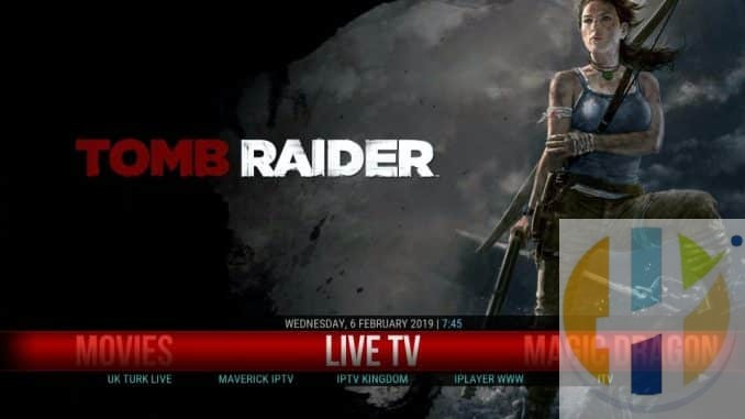 how to install tomb raider build on kodi 18