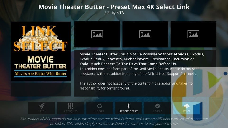 How to Install Movie Theater Butter Addon on Kodi 18 0 Leia
