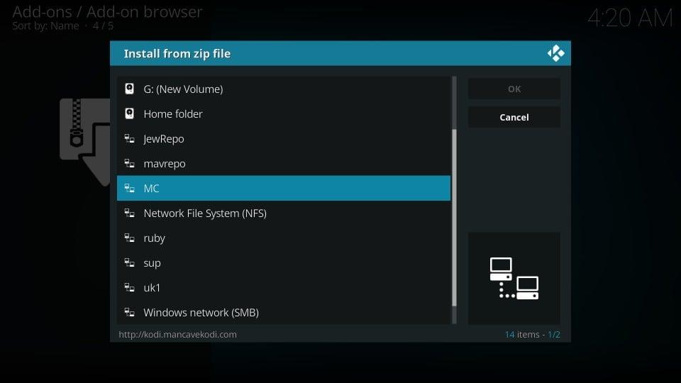how to download mc 1080p addon on kodi