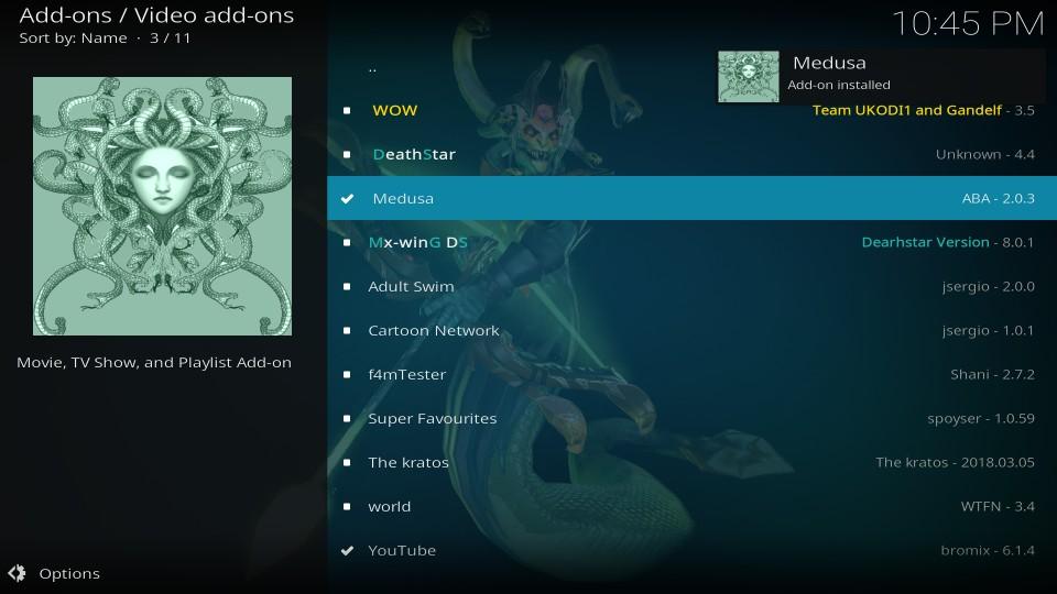 kodi medusa