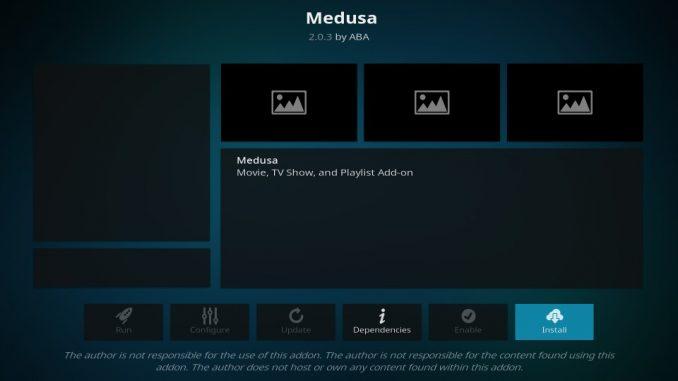 how to install medusa kodi addon