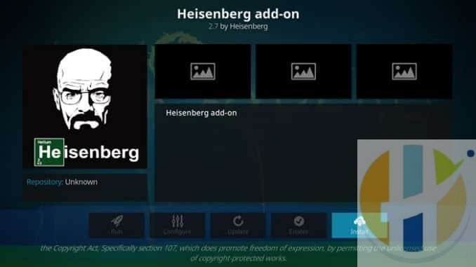 Heisenberg Addon Guide - Kodi Reviews