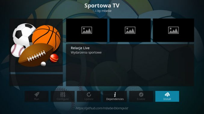 Sportowa TV Addon Guide - Kodi Reviews